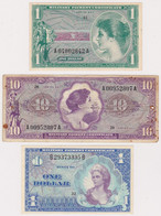 U.S.A., Military Payment Certificate, Lot Of 3 Banknotes - Unclassified