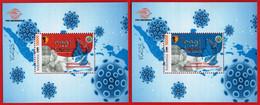 INDONESIA 2021, 2XSS TIME TO VACCINATE, VAKSINASI COVID-19.#VaksinAmanDanHalal & #KesehatanPulihEkonomiBangkit. MNH - Indonesia