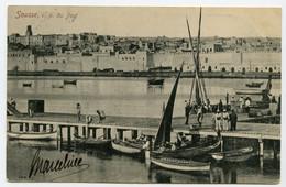 CPA TUNISIE SOUSSE Vue Du Port    écrite - Tunesië