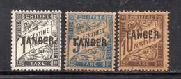 Y781 - MAROCCO MAROC 1918, Tasse Tre Valori Diversi  *  Linguella - Postage Due