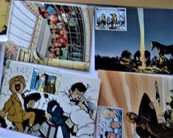 TINTIN,8 Cartes Timbrés éditions Du Musée De La BD - Collections