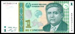 ♛ TAJIKISTAN - 1 Somoni 1999 UNC P.14 A - Tajikistan