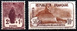 France Orphelin 3 ème Série N°229-230 Neufs** Cote 100€ - Ungebraucht