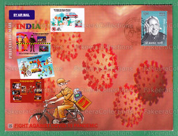 INDIA 2020 Inde Indien - Salute To COVID-19 Warriors - Special POSTMARK - Anand 18.05.2020 To 22.05.2020 - Stethoscope - Enfermedades