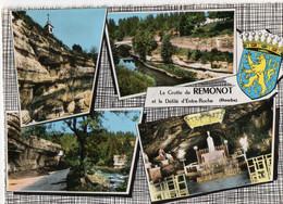 CPSM, (25) La Grotte De REMONOT Et Le Défilé D'entre-roche, Multivues, Blason, Jamais Voyagée - Sin Clasificación