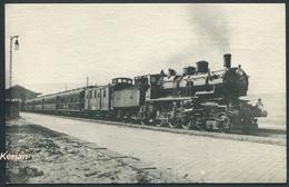 Réseau Du NORD - Un Train De Luxe Remorqué Par La Locomotive 3552 Vers 1912 - H. M. P. N° 65 - Voir 2 Scans - Treinen