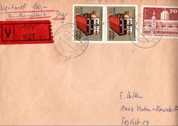 ! 1984 DDR Wertbrief Aus Berlin Marzahn - Brieven En Documenten