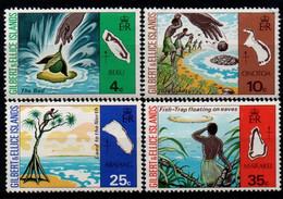 Gilbert & Ellice 1975, Scott 245-248, MNH, Map - Îles Gilbert Et Ellice (...-1979)