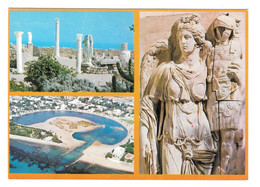 Tunisia Carthage Ancient Ruins Sculpture Statues Archaeology 4X6 Multiview Postcard - Tunisie