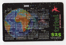 TANZANIE TELECARTE TRITEL 25$ CALENDRIER ANNEE 2000 - Tanzania