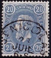 E C. DE ST NICOLAS   N°31 OBL. - 1869-1883 Léopold II