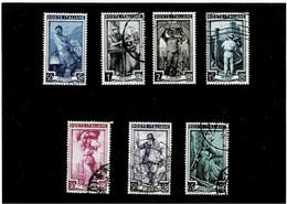 """ITALIA REPUBBLICA ,serie Compl.usata ,""""Italia Al Lavoro"""",filigr.stelle ,qualita Splendida - 1946-60: Oblitérés"""