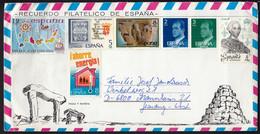 Spain Airmail Air Mail / Taula Y Naveta / King Juan Carlos Islas Canarias Carlos III / Menorca Picture On The Back Side - Storia Postale
