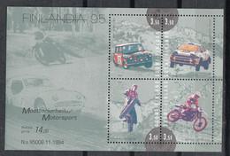FINLANDIA 1994 - DEPORTES DE MOTOR - YVERT Nº 1263/1266** - BF-16** - Nuovi