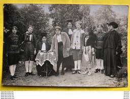 BELLE CARTE PHOTO - Groupe De 9 Comédiens De Théâtre - Tampon Sec De Rusché - BONNEVILLE (HTE-SAVOIE) - Bonneville