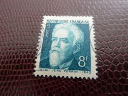 PERRIN Jean (1870-1942) Physicien - 8f. - Bleu-vert - Oblitéré - Année 1948 - - Usados
