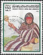 LIBYA 1984 Handicrafts - 150dh - Woman Spinning By Hand FU - Libyen