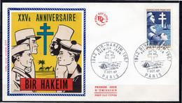 FDC FRANCE 1967 - N° 1532 - 25è Anniversaire De La Victoire De Bir Hakeim - 1960-1969