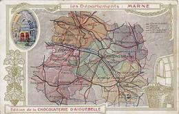 51 - Les Départements : MARNE - Edition De La Chocolaterie D'Aiguebelle - Pub Au Dos - Zonder Classificatie