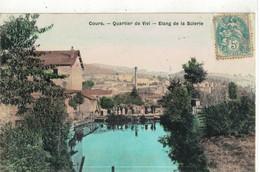CPA  COURS  Quartier De Vivi  - Etang De La Scierie - Cours-la-Ville