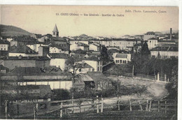 CPA  COURS    Vue Générale , Quartier Du Centre   N° 53 - Cours-la-Ville