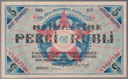 Billet 5 Rubli Lettonie / Latvia - Monnaie Locale Du Soviet De Riga - 1919 - Etat Neuf - Latvia