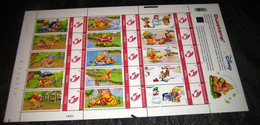 Disney Winnie The Pooh ,Poeh Beer Duostamp - Duostamps - Duozegels - Ongeplooid! MNH Postfris - Sellos Privados