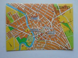 D177344 Map Carte  - Hungary  - SZENTES  1972 - Landkaarten