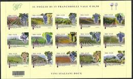 Italia 2013; Vini Italiani DOCG ; Foglietto Con Un Unico Codice A Barre. - Bar Codes