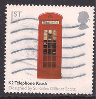 GB 2009 QE2 1st British Design Classics Telephone Kiosk Used SG 2892 ( H253 ) - Gebraucht