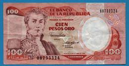 COLOMBIA    100 Pesos Oro 12.10.1988 # 08733324 P# 426c  General Antonio Nariño - Colombia