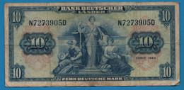 GERMANY 10 MARK 22.08.1949 # N7273905D  P# 16a    Bank Deutscher Länder - 10 Deutsche Mark