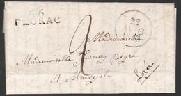 Une Lettre  Année 1829   Lille  Destination  Marvejols    Lozère  46 Florac - 1801-1848: Precursores XIX
