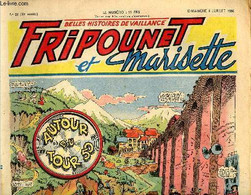Fripounet Et Marisette - Année 1950 - N° 28 - 9 Juillet 1950 - Sylvain Et Sylvette - Les Indégonflables De Chantovent Pa - Otras Revistas