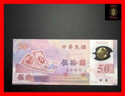TAIWAN 50 Yuan 1999 P. 1990  *commemorative*  Polymer   Serie A   UNC - Taiwan
