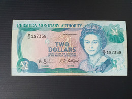 BERMUDES 2 DOLLARS 1989.XF - Bermudas
