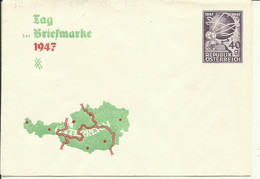 1947  Privatumschlag 40 G. Tag Der Briefmarke - Postwaardestukken