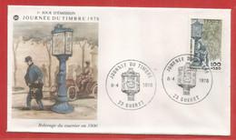 Enveloppe Fdc Journée Du Timbre 1978 - Relevage Du Courrier En 1900 - GUERET (23) Creuse - 08 / 04 / 1978 - 1970-1979