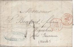 Lettre De GAND 1850 Pour WIHNEHIES FOURMIES Marque D'entrée BELGIQUE LILLE - Marques D'entrées