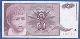 YUGOSLAVIA - P.104– 50 Dinara 1990 - AU/UNC  Prefix AP - Jugoslavia