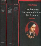 Lot De 3 Volumes De La Saga Millénium: 1: Les Hommes Qui N'aimaient Pas Les Femmes; 2: La Fille Qui Rêvait D'un Bidon D' - Other