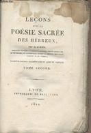 Leçons Sur La Poésie Sacrée Des Hébreux - Tome Second Seul - Lowth - 1812 - Other