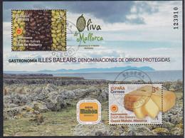 2021-ED. 5465 H.B. Gastronomía D.O. Protegidas Illes Balears 2021. Queso Mahón-Menorca Y Oliva De Mallorca  - USADO - 2011-... Used