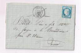 Lettre De Thiers à La Bérardière (Loire) - 1871-1875 Ceres