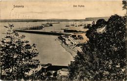 CPA AK Insel RÜGEN SASSNITZ Der Hafen GERMANY (609991) - Sassnitz