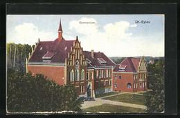 AK Deutsch Eylau / Ilawa, Front Des Gymnasiums - Westpreussen