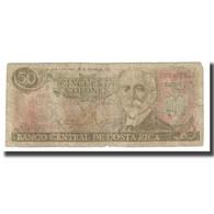Billet, Costa Rica, 50 Colones, KM:253, B+ - Costa Rica