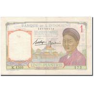 Billet, FRENCH INDO-CHINA, 1 Piastre, KM:52, TB+ - Indochina