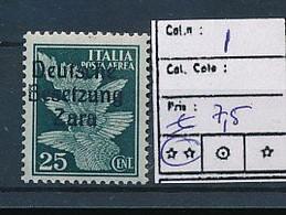 ITALY ZARA SASSONE 1 MNH - German Occ.: Zara