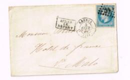 Lettre De Rennes à Saint-Malo.Après Le Départ. - 1863-1870 Napoléon III. Laure